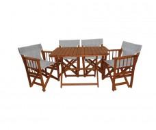 Σετ ξύλινο τραπέζι και 4 πολυθρόνες σκηνοθέτη no 2