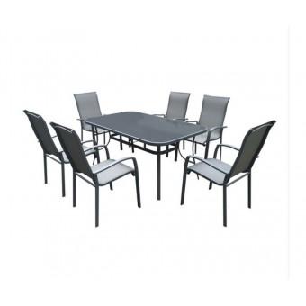 Kimy σετ (τραπέζι - 6 πολυθρόνες)
