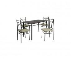 Carmen σετ (τραπέζι + 4 καρέκλες)
