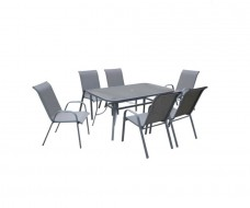 Megan τραπεζαρία (τραπέζι + 6 πολυθρόνες)