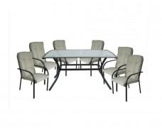 Wendy τραπεζαρία (τραπέζι + 6 πολυθρόνες)