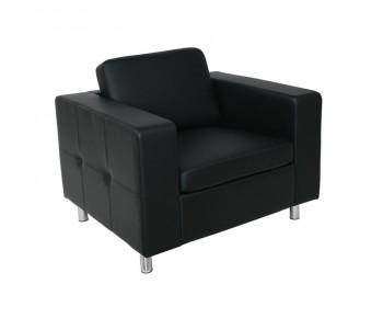 ALAMO Πολυθρόνα Σαλονιού Καθιστικού - PU Μαύρο