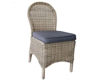 MONTANA Καρέκλα Κήπου Βεράντας - Φ5mm Round Wicker Grey Brown