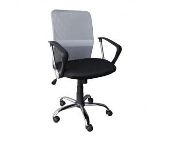 BF2009 Πολυθρόνα Γραφείου Mesh Γκρι - Μαύρο