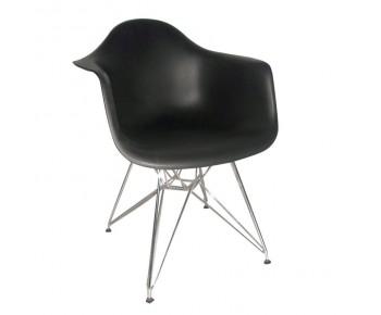 ALEA Πολυθρόνα Μέταλλο Χρώμιο, ΡΡ Μαύρο