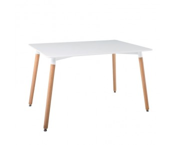 ART Tραπέζι Τραπεζαρίας Κουζίνας - Άσπρο MDF