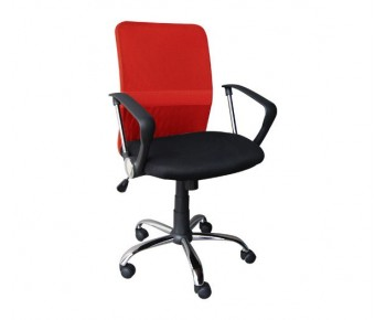 BF2009 Πολυθρόνα Γραφείου Mesh Κόκκινο - Μαύρο