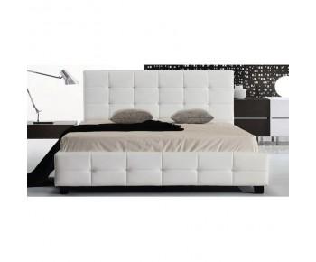 FIDEL Κρεβάτι Διπλό για Στρώμα 160x200cm, PU Άσπρο