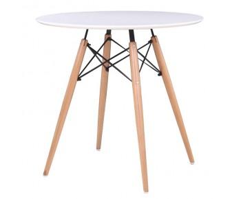 ART Wood Tραπέζι Οξυά Φυσικό - MDF Άσπρο