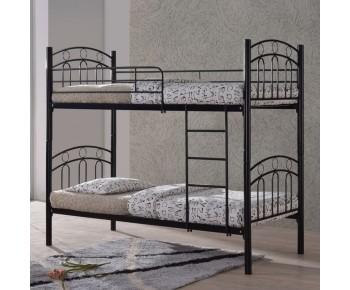 DECKER Κρεβάτι Κουκέτα Μέταλλο Βαφή Μαύρο