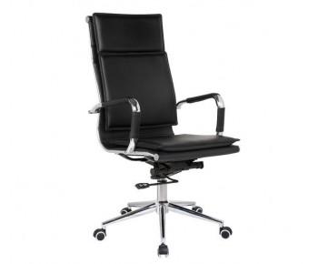 BF3600 Πολυθρόνα Διευθυντή Μέταλλο Βάση Χρώμιο - PU Μαύρο