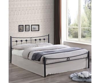 DUGAN Κρεβάτι Διπλό Μέταλλο Βαφή Μαύρη
