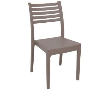 OLIMPIA Καρέκλα Στοιβαζόμενη, Πλαστικό Tortora