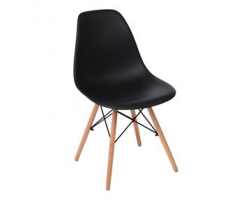 ART Wood Kαρέκλα Τραπεζαρίας Κουζίνας Ξύλο - PP Μαύρο