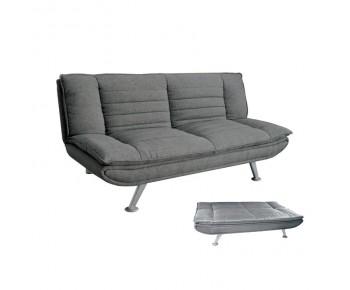 ELVIRA Καναπές - Κρεβάτι Σαλονιού - Καθιστικού Ύφασμα Γκρι