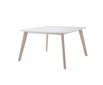 CALVIN Τραπέζι Τραπεζαρίας Κουζίνας - White Wash - Άσπρο
