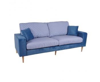 DOLCE Καναπές Σαλονιού Καθιστικού 3Θέσιος Microfiber Μπλε