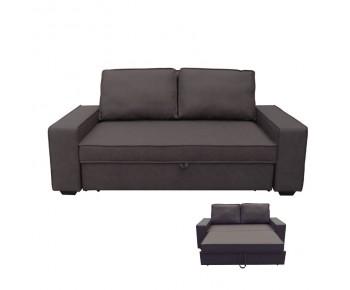ALISON Καναπές - Κρεβάτι Σαλονιού - Καθιστικού Nabuk Σκούρο Καφέ