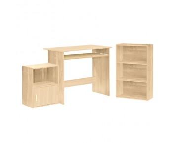 DECON Set Γραφείο Aπόχρωση Σημ ύδα:Γραφείο 90x50cm Βιβλιοθήκη 50x23x80cm Ντουλάπι 41x29x54cm