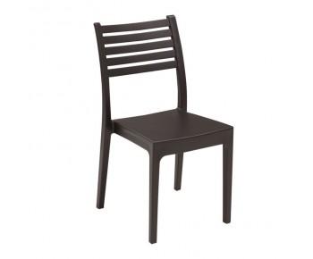 OLIMPIA Καρέκλα Στοιβαζόμενη, Πλαστικό Καφέ
