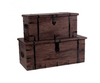 BOX Μπαούλο Ξύλο Sheesham Καρυδί