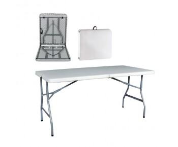BLOW Τραπέζι Συνεδρίου Catering Πτυσσόμενο - Άσπρο ( Βαλίτσα )