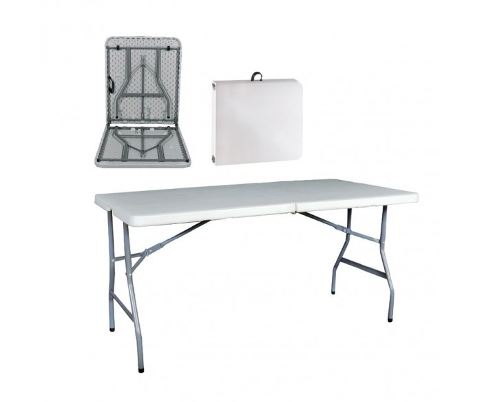 BLOW Τραπέζι Συνεδρίου Catering Πτυσσόμενο, Άσπρο ( Βαλίτσα )