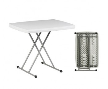 BLOW Τραπέζι Catering Πτυσσόμενο Άσπρο - Ρυθμιζόμενο Ύψος