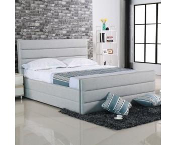 APOLLO Κρεβάτι Διπλό, για Στρώμα 160x200cm, Ύφασμα Απόχρωση Sand Grey
