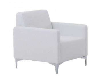 STYLE Πολυθρόνα Σαλονιού Καθιστικού - Pu Άσπρο