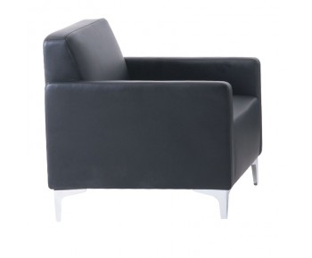 STYLE Πολυθρόνα Σαλονιού Καθιστικού - Pu Μαύρο