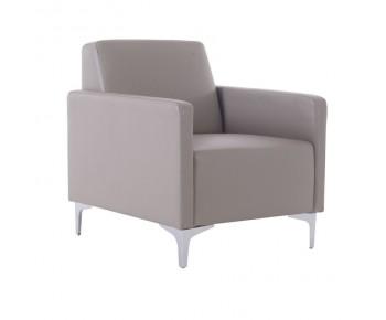 STYLE Πολυθρόνα Σαλονιού Καθιστικού - Pu Sand - Grey