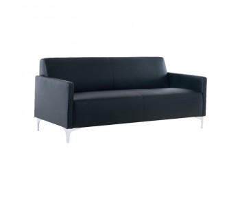 STYLE Καναπές Σαλονιού Καθιστικού 3Θέσιος - Pu Μαύρο K/D