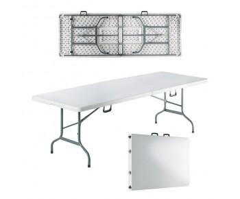BLOW-R Τραπέζι Συνεδρίου Catering Πτυσσόμενο, Άσπρο ( Βαλίτσα )