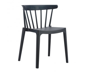 WEST Καρέκλα Κήπου - Βεράντας PP-UV Μαύρο