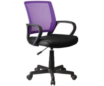 BF2010 Πολυθρόνα Γραφείου Mesh Μωβ - Μαύρο