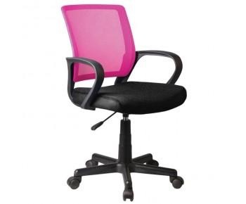BF2010 Πολυθρόνα Γραφείου Mesh Ροζ - Μαύρο