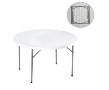 BLOW-R Τραπέζι Συνεδρίου - Catering, Πτυσσόμενο. Μέταλλο Βαφή Γκρι, HDPE Άσπρο