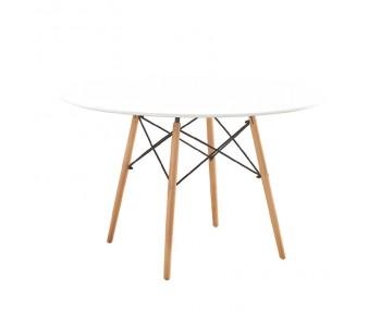 ART Wood Τραπέζι Τραπεζαρίας Κουζίνας Οξυά Φυσικό - MDF Άσπρο