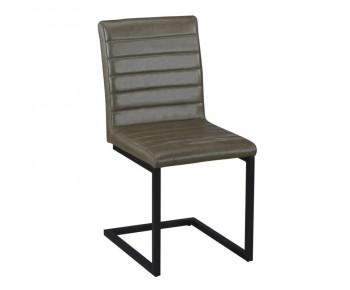 ALTO Καρέκλα Μέταλλο Βαφή Μαύρο, Ύφασμα Vintage Green