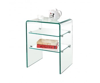 GLASSER Ραφιέρα Clear  2 Ράφια - Γυαλί 10mm / 6mm