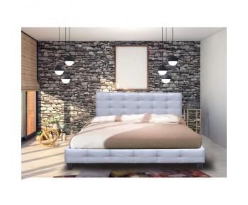 FIDEL Κρεβάτι Διπλό για Στρώμα 180x200cm, Ύφασμα Γκρι