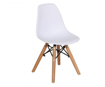 ART Wood Kid Καρέκλα Ξύλο - PP Άσπρο