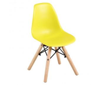 ART Wood Kid Καρέκλα Ξύλο - PP Κίτρινο