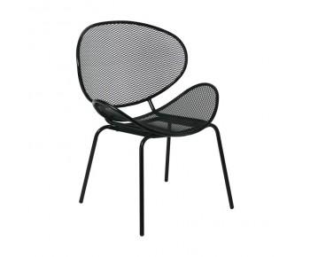 OLIVER Καρέκλα K/D Κήπου Βεράντας, Μέταλλο Βαφή Μαύρο