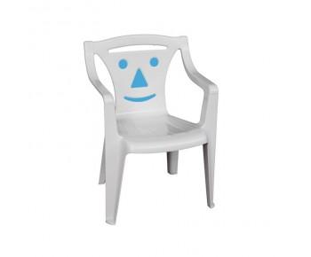 BIMBO Πολυθρονάκι Παιδικό Πλαστικό Άσπρο - Blue Smile