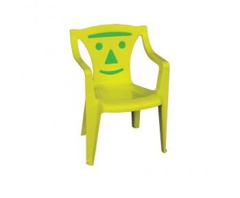 BIMBO Πολυθρονάκι Παιδικό Πλαστικό Κίτρινο - Green Smile