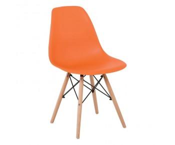 ART Wood Kαρέκλα Τραπεζαρίας Κουζίνας Ξύλο - PP Πορτοκαλί