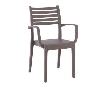 OLIMPIA Πολυθρόνα Στοιβαζόμενη, Πλαστικό Tortora