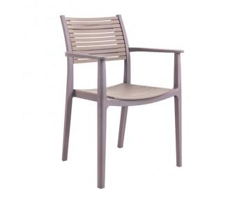AKRON Πολυθρόνα PP-UV Sand Beige - Tortora